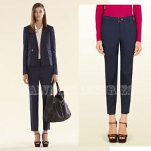 Blue Gucci Trousers Size 40 US 4 Bamboo closure